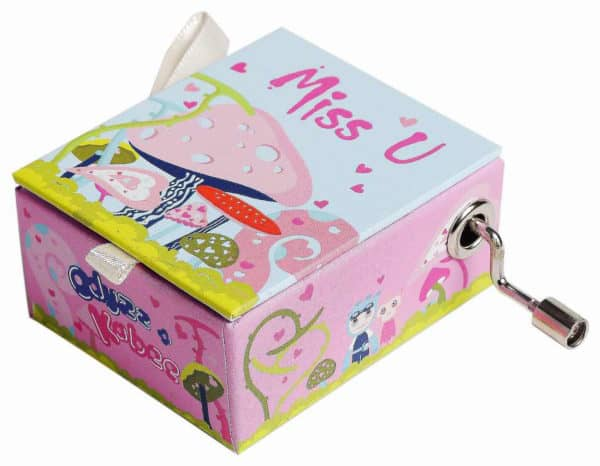 hand-cranked paper music box _HKTDC