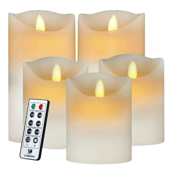 Flameless Candles LED Candles Realistic Moving Set of 5_HKTDC