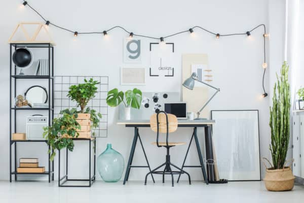 Accent lighting and decorative lighting for home office
