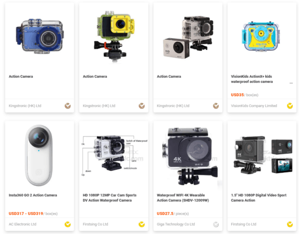 different types of action camera at HKTDC Sourcing
