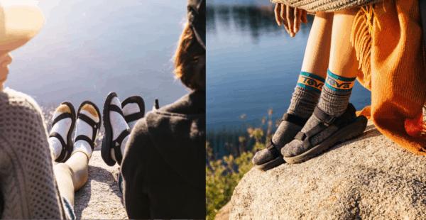 teva style_sandal with socks