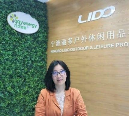 Angela Qiu, general manager of Ningbo Lido