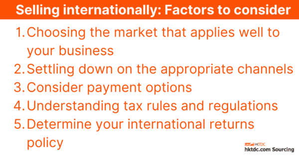 Selling Internationally: Factors to Consider